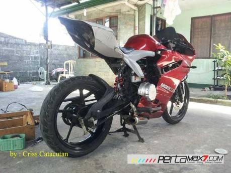 Modifikasi Yamaha SZ-R jadi Ala Ducati Panigale asal Filipina ini Unik 04 Pertamax7.com