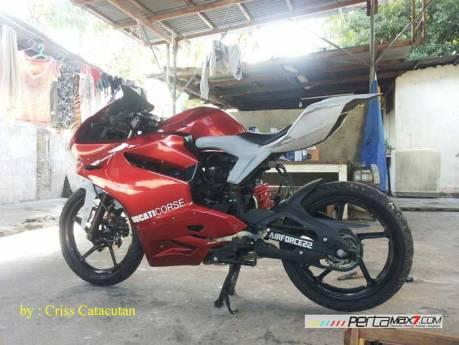 Modifikasi Yamaha SZ-R jadi Ala Ducati Panigale asal Filipina ini Unik 05 Pertamax7.com