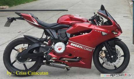 Modifikasi Yamaha SZ-R jadi Ala Ducati Panigale asal Filipina ini Unik 10 Pertamax7.com