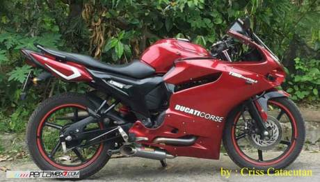 Modifikasi Yamaha SZ-R jadi Ala Ducati Panigale asal Filipina ini Unik 12 Pertamax7.com