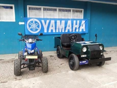 Motor ATV dan mobil prototype Jeep dengan mesin V-Ixion hasil karya SMK Angkasa Bandung