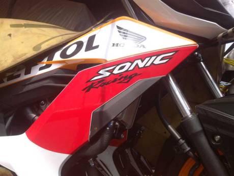 New Honda Sonic Repsol Racing sudah Sampai Jogja, mesin warna emas Siap di Launching 04 Pertamax7.com