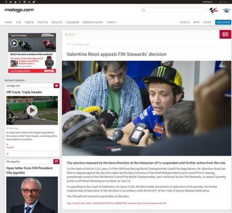 Panas,-Ditolak-RD-dan-FIM-Valentino-Rossi-Ajukan-Banding-ke-CAS,-Penalti-di-tangguhkan pertamax7.com