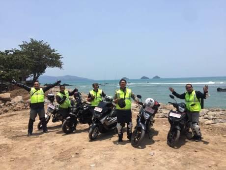 Pengurus YRFI Pusat bersama Asisten GM Marketing PT YIMM Mohammad Masykur turing ke Lampung dengan Yamaha 150 Series (1)