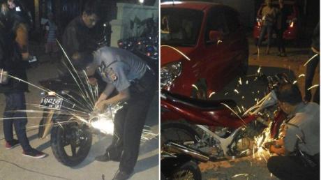 Polisi Bogor Ini Gerinda Knalpot Bising Ditempat, Keren.. Jangan tebang Pilih.. Lanjutkan pertamax7.com