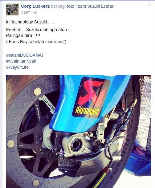 Suzuki GSX-RR motogp pakai corong pendingin rem depan di MOtegi 2015 pertamax7.com