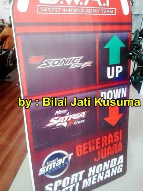 Tim SWAT New Sonic 150R UP Satria F Down Generasi Juara Sport Honda Pasti Menang pertamax7.com