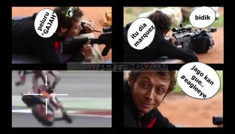 Video Viral Rossi Mbedil Marquez Sampai Jumpalitan ini Bikin Ngakak pertamax7.com 1