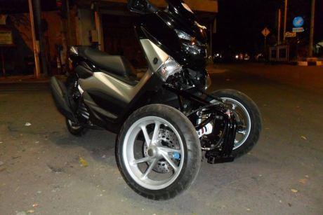 AKhirnya Modifikasi Yamaha NMAX 155 Roda tiga Reverse Trike Karya R.Win Solo jadi Juga, Cadas 05 Pertamax7.com