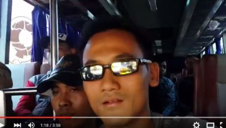 Aksi Ngeri Bus Pantura Slipstream tempel Bus depannya 5 CM di kecepatan 110 KPH, Penumpang Pasrah Tikungan tajam terpercaya 02 Pertamax7.com
