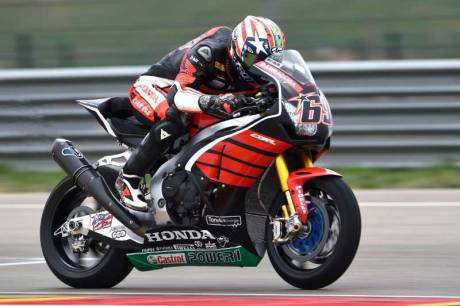 Aksi Pertama Nicky Hayden geber Honda CBR1000RR di WSBK 07 Pertamax7.com