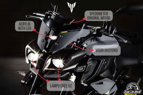 Balu Oto Work Siapkan Headlamp Ala Yamaha MT-10 Nih cuma Rp.900 rebu pertamax7.com