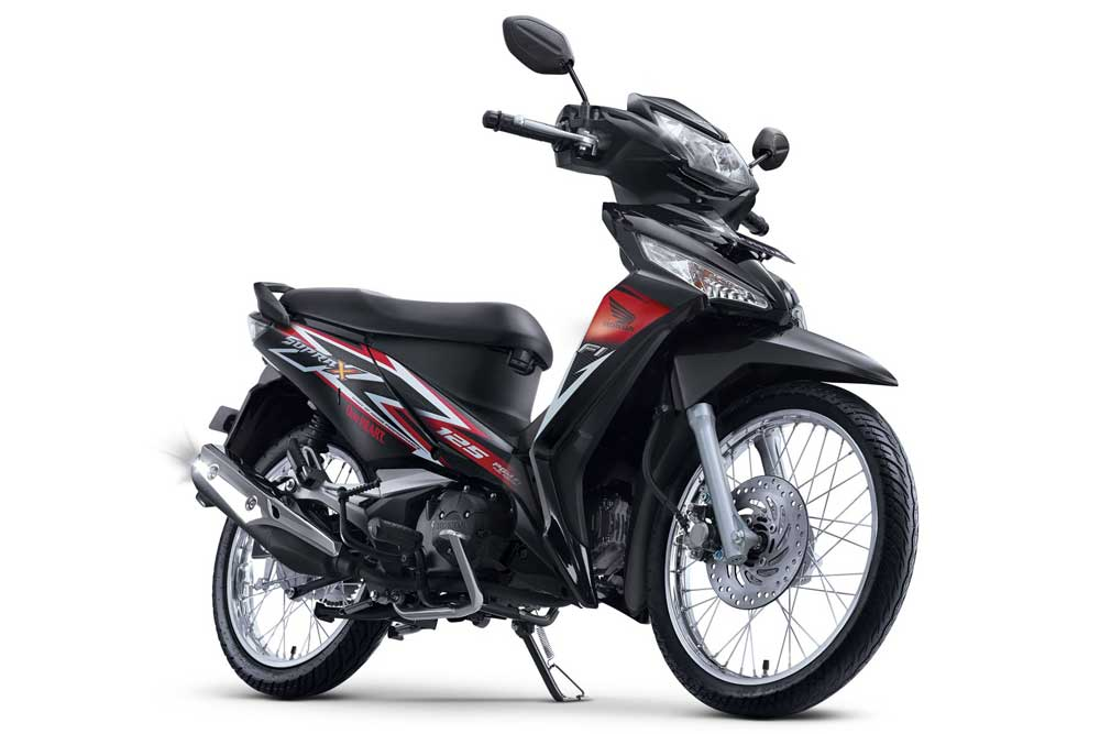 facelift new honda supra X 125 FI Stylish Black SW pertamax7.com 2016