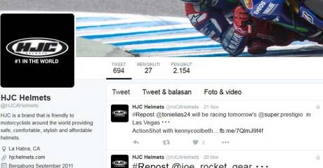 follower-helm-HJC-di-twitter-masih-sepi-pertamax7.com