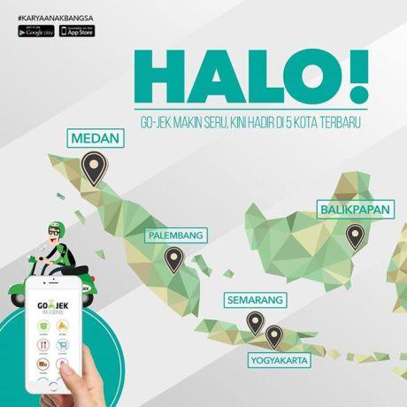 GO-JEK Resmi hadir di Jogja, Semarang, Balikpapan, Palembang dan Medan pertamax7.com