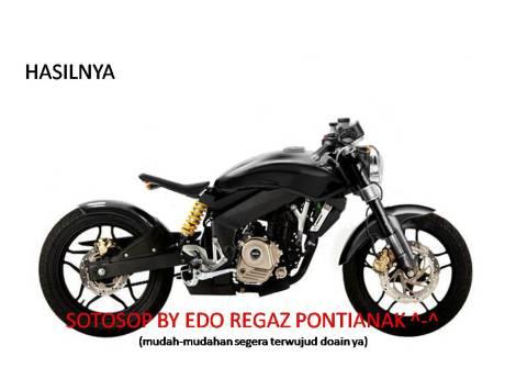 Ide Modifikasi Kawasaki Bajaj Pulsar 200NS ala Bobber Mac Motorcycles SPUD pertamax7.com