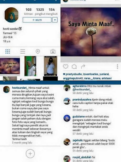 Instagram-Hestisundari_-Suka-Suka-Gue-Dong-Penginjak-Taman-Bunga-Amarillys-di-Pathuk-GunungKidul-Minta-Maaf-pertamax7.com-