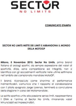 Jam Tangan SECTOR No Limit Tinggalkan Lorenzo dan Motogp Gara-gara SepangClash 00 pertamax7.com