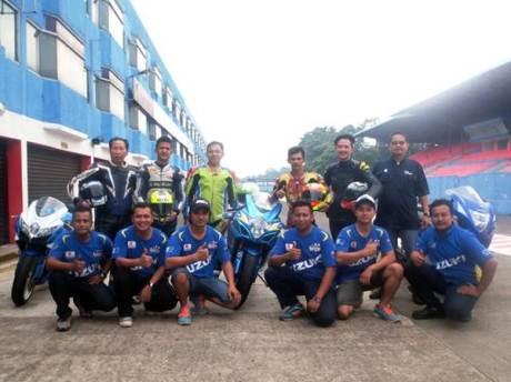 Juara Suzuki Indonesia Challenge Satria F150 berlatih dengan GSX-6000 dan GSX-R1000, dari bebek 150 cc siap loncat Tampil di Supersport 600 02 pertamax7.com