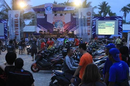 liputan Kemeriahan Jambore Nasional ke-3 Yamaha Riders Federation Indonesia (YRFI) di Pantai Pangandaran pertamax7.com