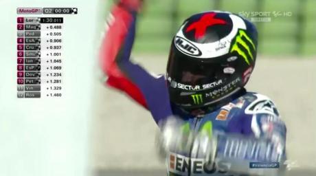 Lorenzo girang Sabet Pole Position Pecah rekor, Rossi Crash Low Side di Kuliafikasi [ Plus Video ] pertamax7.com