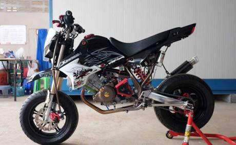 Modifikasi Kawasaki KSR 110 pakai Mesin Honda CBR150R Karbu ini Imut tapi sadis 02 Pertamax7.com