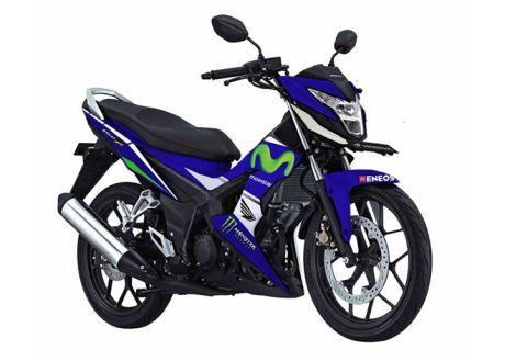 modifikasi new honda sonic 150 livery movistar yamaha motogp pertamax7.com