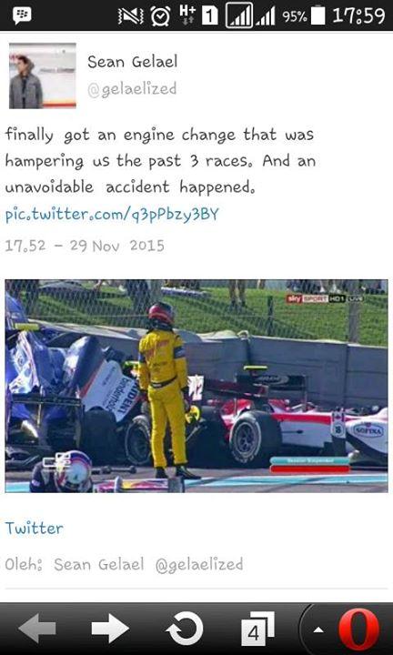 Rio Harianto Juara 4 Dunia Balap GP2 tahun 2015, Selamat pertamax7.com