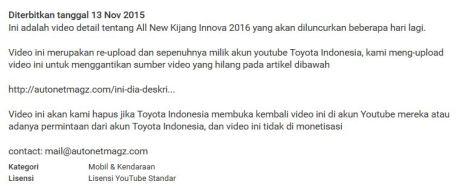 Video All New Kijang Innova 2015 bocor oleh Toyota, Antara Tidak Sengaja apa Trik Marketing, whatever ... Pamer Kaya Fitur pertamax7.com