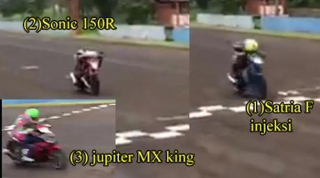 Video-Suzuki-Satria-F-injeksi-Jauh-kalahkan-Honda-Sonic-150R-jadi-perdebatan-seru,-ada-yang-nyebut-Matik-sampai-Blade--pertamax7.com-