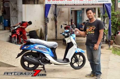 Ergonomi dan Impresi Singkat Naik Yamaha Mio Fino 125 Blue Core, Sensasi mesin Mio M3 Bangets 01 Pertamax7.com