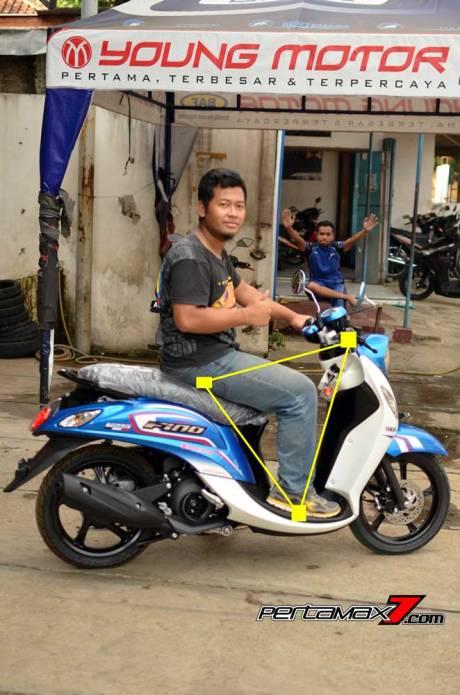 Ergonomi dan Impresi Singkat Naik Yamaha Mio Fino 125 Blue Core, Sensasi mesin Mio M3 Bangets 04 Pertamax7.com