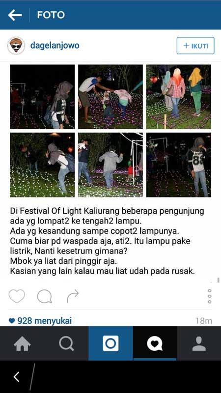 Festival Of Light Kaliurang Jogja Ada Yang Lompat Dan Kesandung Lampu Awas Kesetrum pertamax7.com