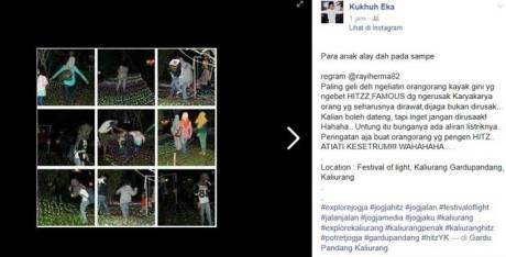 Indahnya Festival Festival Of Light Kaliurang Jogja, Boleh Di Injak Kah Awas Kesetrum 03 Pertamax7.com
