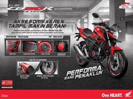 Ini dia 6 Aksesoris All new Honda CB150R Streetfire dan Harganya pertamax7.com