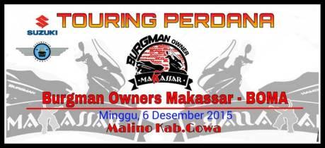 Intip Touring Perdana Suzuki Burgman Owner Makassar 07 Pertamax7.com