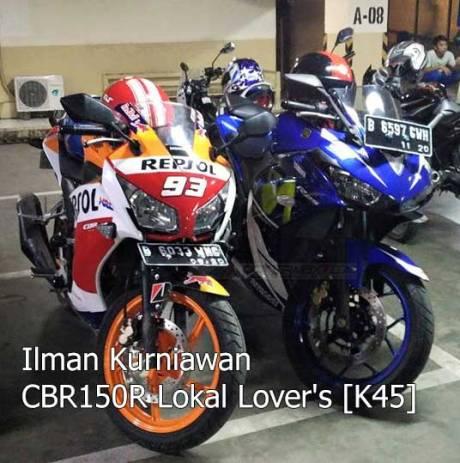 kala honda CBR150R lokal jejer yamaha R25 movistar pertamax7.com