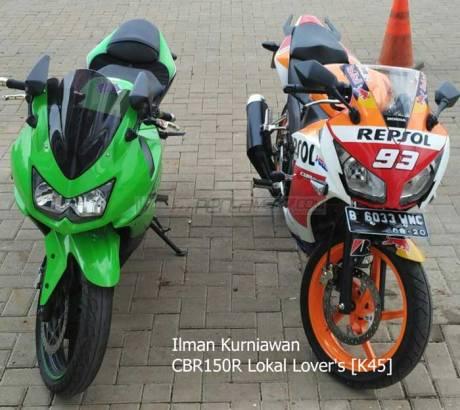 kawasaki ninja 250R jejer honda CBr150R lokal pertamax7.com