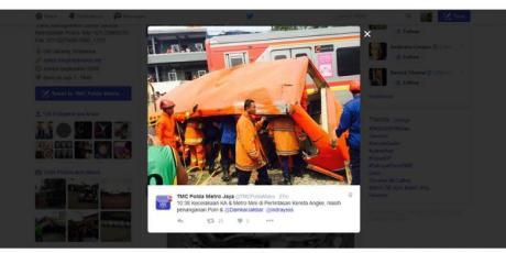 Kecelakaan Metro Mini vs KRL di Muara Angke akibat terobos perlintasan kereta api, 18 meninggal pertamax7.com