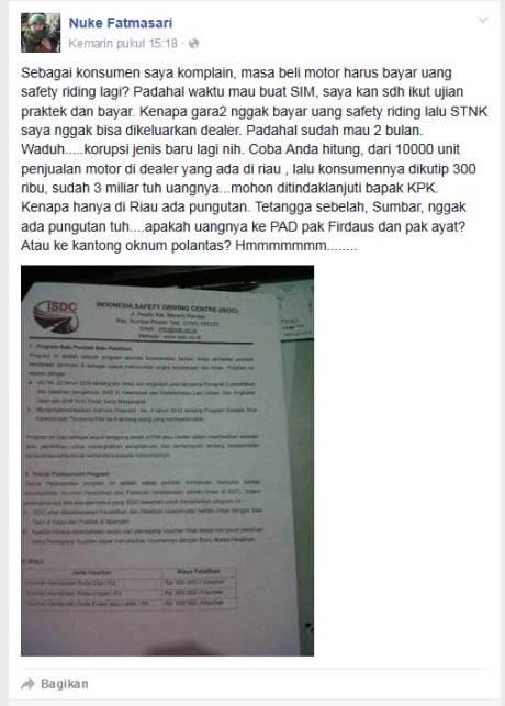 keluhan-Konsumen-di-Riau-karena-beli-Motor-Baru-kudu-Bayar-Rp.300-ribu-untuk-Program-Safety-Riding-pertamax7.com-