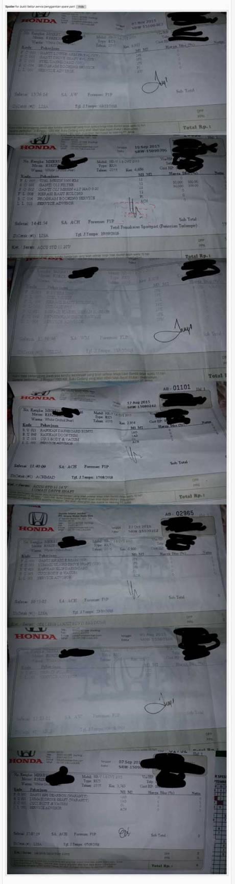 Keluhan Konsumen Honda HRV ini lagi ramai di Kaskus, moga cepat beres 02 Pertamax7.com