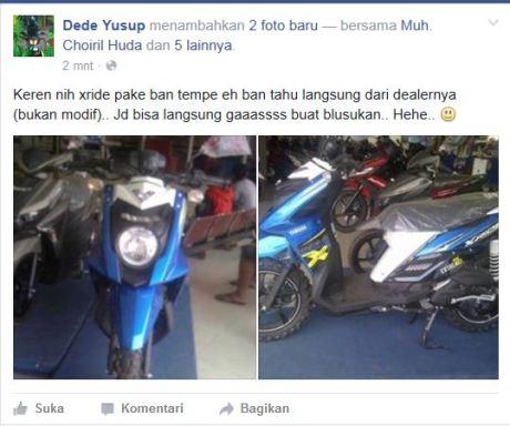 Keren nih Yamaha X-Ride Pakai Ban Tahu Langsung dari Diler, Siap Hadapi Jalanan Ancur pertamax7.com