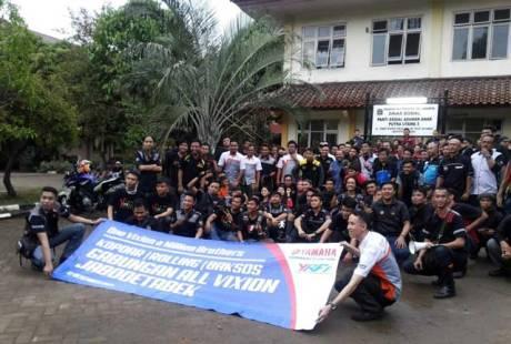 Liputan Klub-klub-V-Ixion-Jabodetabek-foto-bersama-di-Panti-Asuhan-Putra-Utama-3-Tebet-Jakarta-dalam-acara-baksos-Yamaha Pertamax7.com