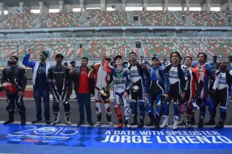 Lorenzo Kenalkan Yamaha R3 di India, Sirkuit Internasional Buddh Ramai 03 Pertamax7.com