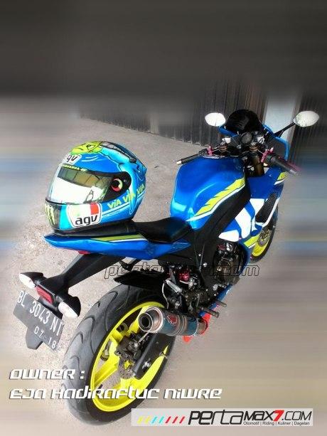 Modifikasi Suzuki Satria F 2008 jadi Full Fairing Bak GSX-R1000 Asal Aceh ini Keren Dan Rapi 04 Pertamax7.com