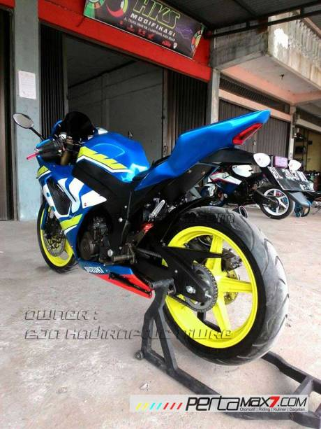 Modifikasi Suzuki Satria F 2008 jadi Full Fairing Bak GSX-R1000 Asal Aceh ini Keren Dan Rapi 07 Pertamax7.com