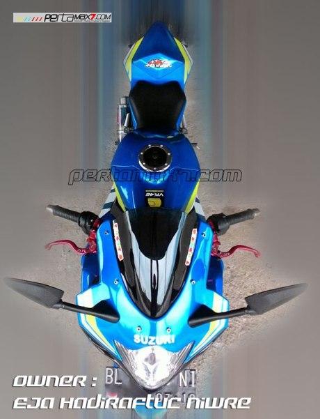 Modifikasi Suzuki Satria F 2008 jadi Full Fairing Bak GSX-R1000 Asal Aceh ini Keren Dan Rapi 09 Pertamax7.com