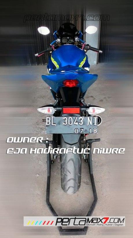 Modifikasi Suzuki Satria F 2008 jadi Full Fairing Bak GSX-R1000 Asal Aceh ini Keren Dan Rapi 14 Pertamax7.com