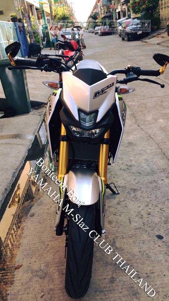 Modifikasi Yamaha M-slaz Pakai Putup Konde Asli Pabrikan01 Pertamax7.com