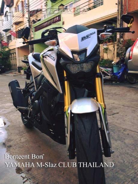 Modifikasi Yamaha M-slaz Pakai Putup Konde Asli Pabrikan03 Pertamax7.com